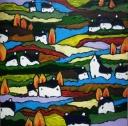 "Dreamy Devon Hills II on canvas 24"" x 24"" £245"
