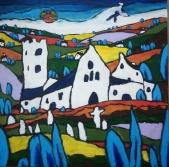 "Divine Devon Dreams 24"" x 24"" on canvas £245"