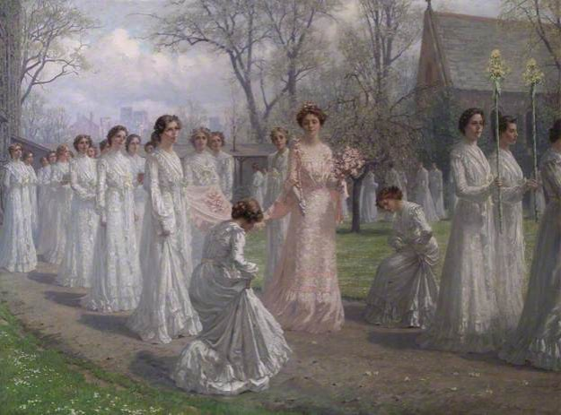 Anna Brewster Whitelands college May Day procession 1902