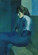 Pablo_Picasso,_1902-03,_Femme_assise_(Melancholy_Woman),