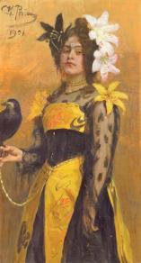 portrait-of-lydia-kuznetsova-1901  Ilya Repin