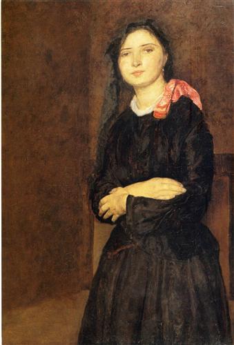 dorelia-in-a-black-dress G John 1903