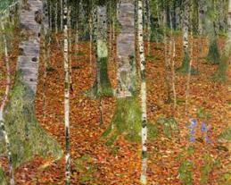 farmhouse-with-birch-trees-1903 Klimt
