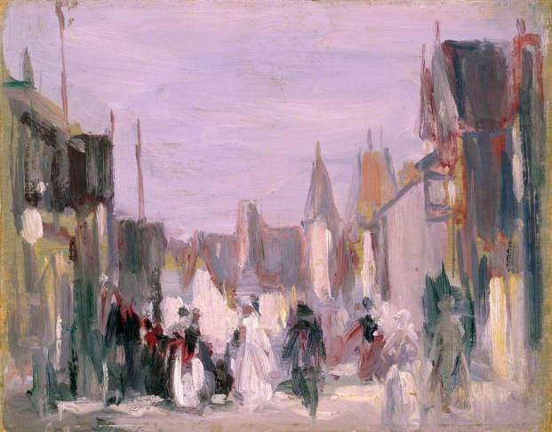Fergusson, John Duncan; French Village with Figures; Perth & Kinross Council; http://www.artuk.org/artworks/french-village-with-figures-129132