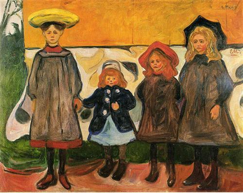 four-girls-in-arsgardstrand-1903 Munch