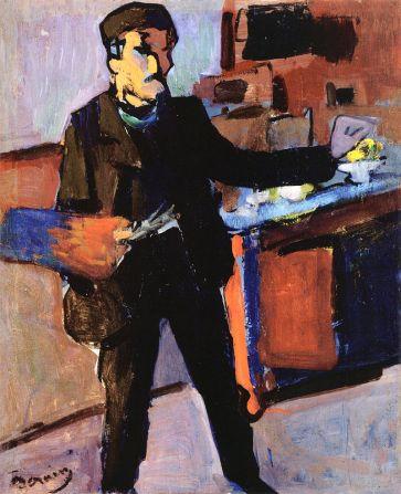Self-portrait_in_studio_by_André_Derain 1903