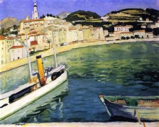Albert Marquet harbor-of-menton-1905