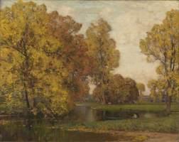 East, Alfred, 1844/1849-1913; Golden Autumn