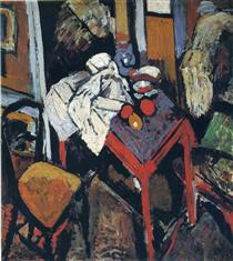 Andre Derain still-life-on-the-red-table-1904