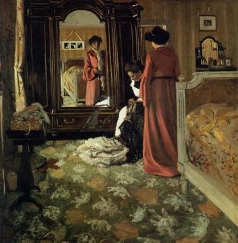Felix Vallotton interior-bedroom-with-two-figures-1904