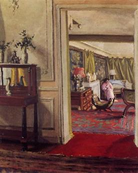 Felix Vallotton interior-with-woman-in-pink-1904