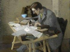 Lytton Strachey (1904) by Simon Bussy