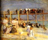 Raoul Duffy the-beach-of-sainte-adresse-1904