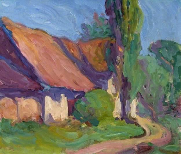 Bevan, Robert Polhill, 1865-1925; Back of the Granary, Poland