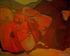 Adolf Holzel Composition in Red 1905