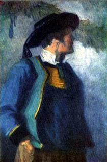 Franz Marc self-portrait-1905