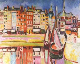Raoul Duffy 1906. Old Houses in Harfleur Harbor
