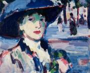 anne-estelle-rice-in-paris-closerie-des-lilas-1907 JD Fergusson