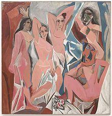 Les_Demoiselles_d'Avignon 1907 Picasso