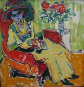 seated-lady-dodo Kirchner 1907