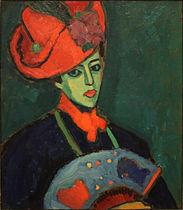 alexej_jawlensky_-_schokko_with_red_hat_1909