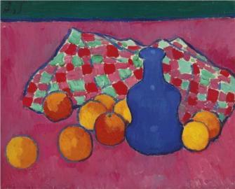 blaue-vase-mit-orangen-1908-alexej-jawlensky