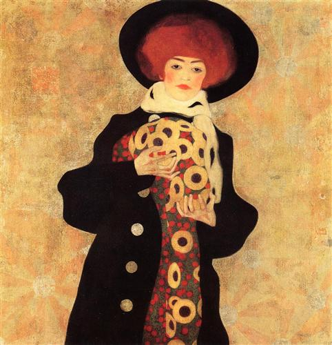 egon-scheile-woman-with-black-hat-1909