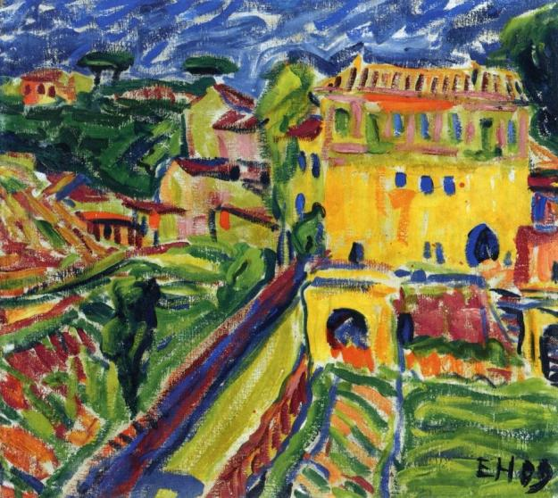 erich-heckel-landscape-near-rome-1909