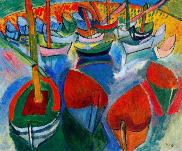 raoul-duff-boats-at-martigues-1908