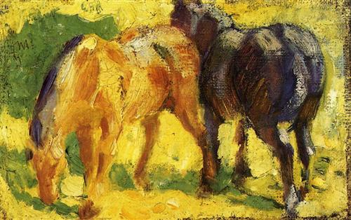 small-horse-picture-1909-franz-marc